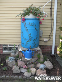 add a spigot to an open top contain style rain barrel