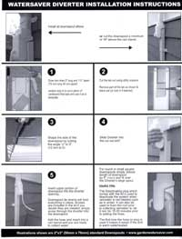 Garden Watersaver Downspout Diverter Kit Installation Instructions