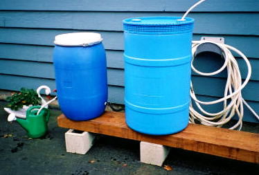 Plastic recycled barrels