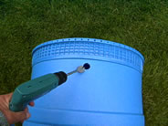 Drill a Hole in a Rain Barrel